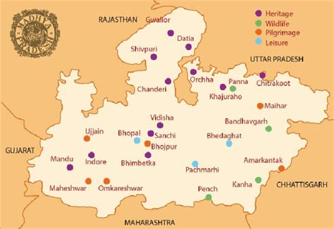 the best mp 4 best tourist circuits in madhya pradesh