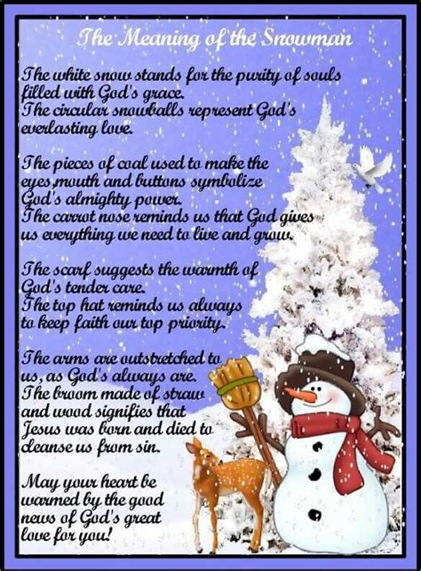 meaning   snowman christmas poems  christmas story christmas snowman