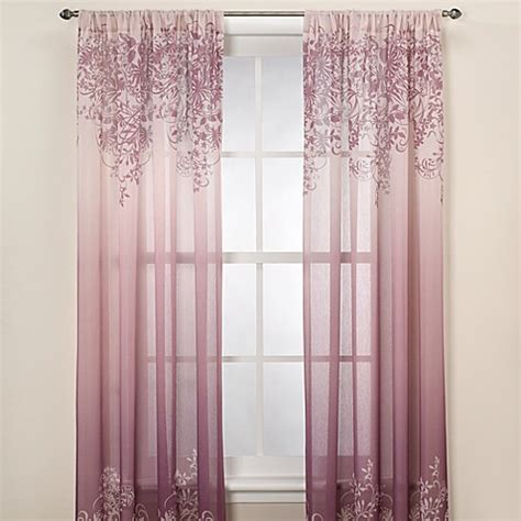 plum colored sheer curtains kas elaina plum sheer window curtain panel bed bath beyond