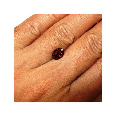Cincin Almandite Garnet batu permata garnet pyrope oval 1 81 carat untuk cincin emas