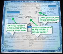 getting a new title for your car how to tell if a vehicle has liens