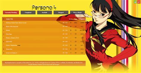css persona 4 style layout forums myanimelist net