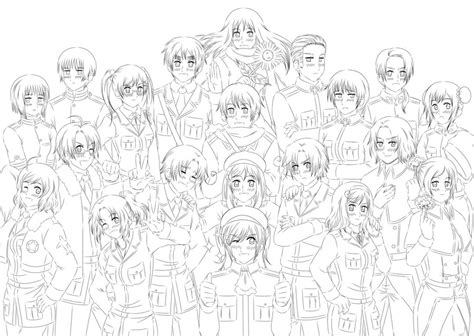 hetalia d lineart by khakipants12 on deviantart