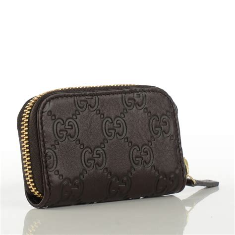 Gucci Coin Purse by Gucci Guccissima Zip Around Coin Purse Wallet Brown