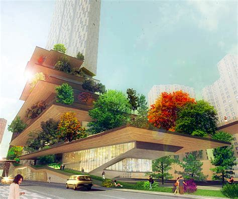 design environment group architects echo architecture unveils greenscaper hotel wrapped with