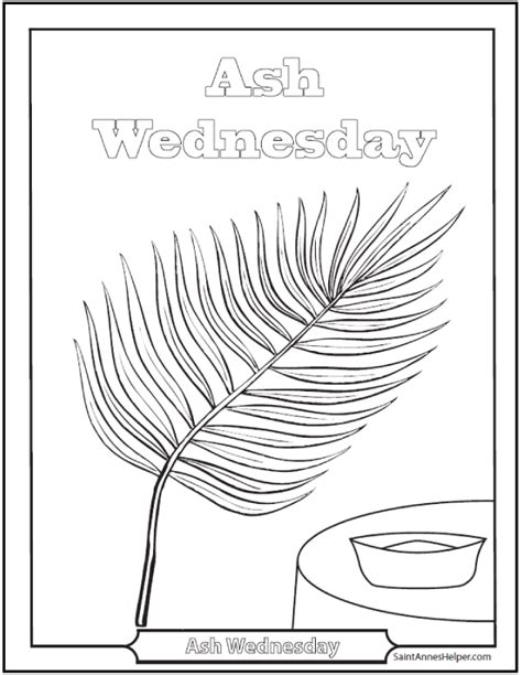 ash wednesday coloring page coloring home