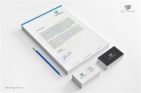 Business Card Letterhead Mockup Jaff Design Stationary Mockup On Behance