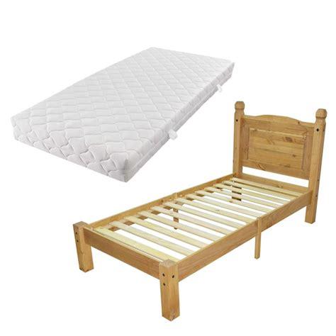 letto singolo con materasso vidaxl letto singolo con materasso morbido legno pino