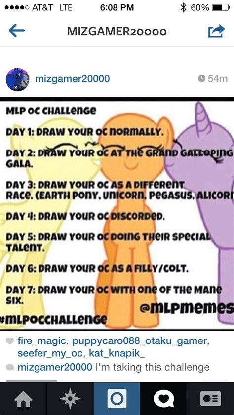 30 day pony challenge facebookcom mlp challenge starting it tomorrow after schools out mlp