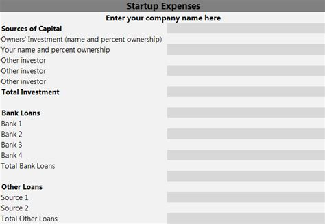 business plan templates for startups business plan template startup