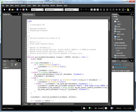 Native Php Support In Visual Studio 2010 Stack Overflow Microsoft Expression Web Templates