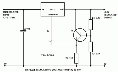 Limited Trafo 5a increase regulator voltage output electronic circuit