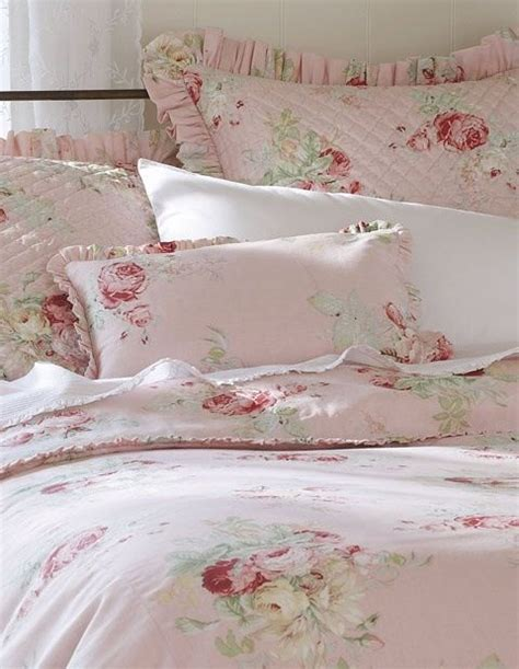 pretty shabby chic pink bed bedding