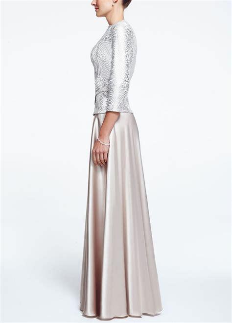 3 4 Sleeve Mock Two Dress david s bridal mock two dress with 3 4 sleeve