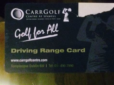 The Range Gift Card - spawell golf driving range gift card for sale for sale in blanchardstown dublin from