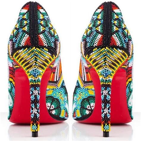 beaded high heel shoes intricate beaded high heels american indian pop