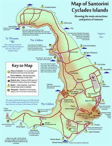 printable road map of greece santorini map of greece my blog