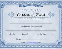 Editable Award Certificate Template Free Printable Certificates Of Award Blank Templates