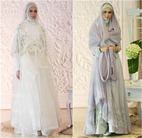 Tas Muslimah Slempang Syar I Pink Putih inspirasi busana pengantin syar i dari para desainer untuk pernikahan 2