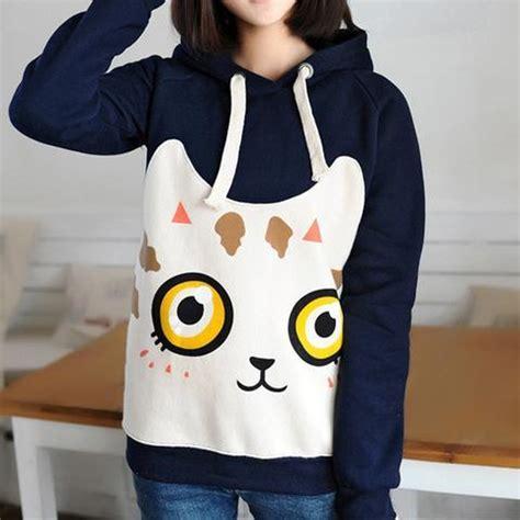 Hoodie Cat Abu 3 Wisata Fashion Shop kawaii cat fleece hooded sweatshirt 183