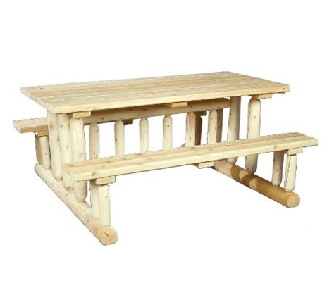 awardpedia cedarlooks 020021e log park style picnic table