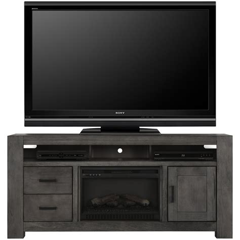 tv stand with fireplace insert city furniture empire gray 72 quot tv stand with fireplace insert