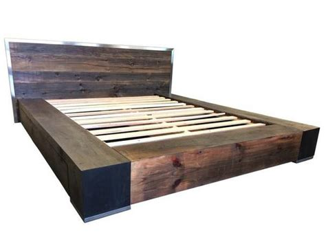 Reclaimed Wood Platform Bed With Storage by Industrial Bed Reclaimed Wood Bed Platform Bed Storage Bed