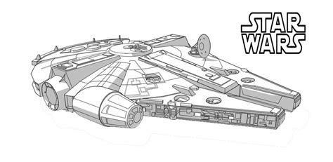 star wars millennium falcon coloring page 50 top star wars coloring pages online free