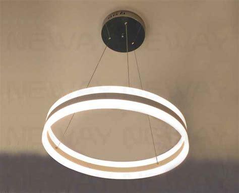 High Efficiency Modern Circle Led Direct Indirect Light Indirect Pendant Lighting