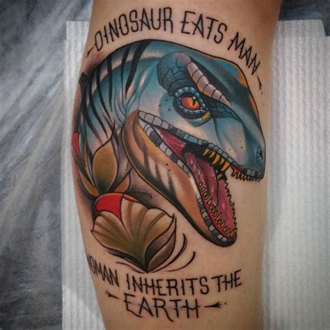 dinosaur tattoo dinosaur on calf best ideas gallery