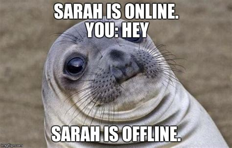 Sarah Meme - awkward moment sealion meme imgflip