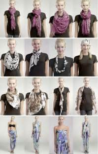 How to tie a scarf 4 scarves 16 ways