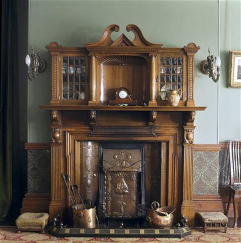 Glass Display Cabinets For Dining Room Up Of The Dining Room Wooden Fireplace At Sunnycroft
