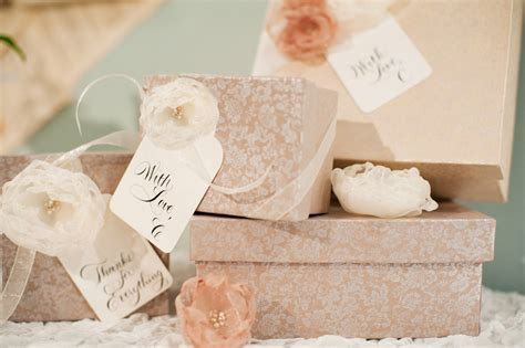 Decoupage Gift Ideas - decoupage boxes organza flowers bridesmaid gift ideas