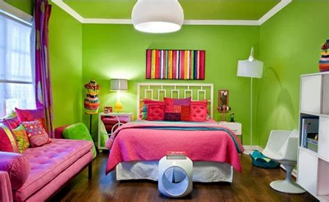 desain kamar warna hijau contoh kombinasi 2 warna cat kamar tidur yang elegan