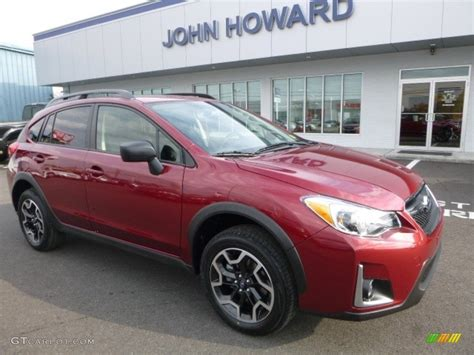 red subaru crosstrek interior 2017 venetian red pearl subaru crosstrek 2 0i 116734657