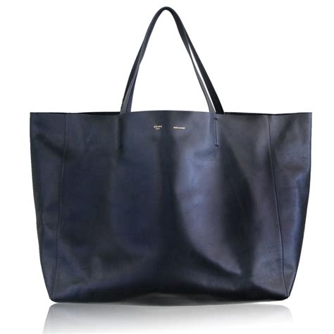 Leather Totebag authentic black lambskin horizontal cabas leather tote bag