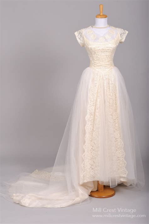 Vintage Wedding Dresses 1950 by Beautiful Authentic Vintage 1950s Wedding Dresses Chic
