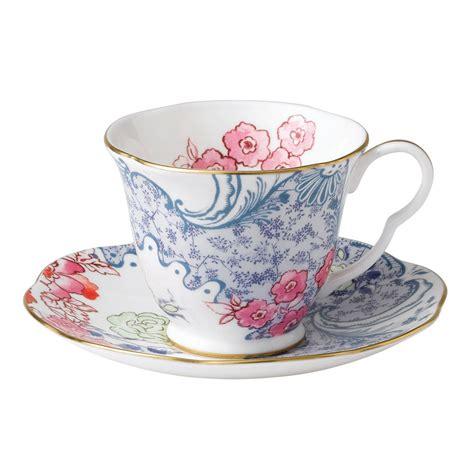 tea cup wedgwood butterfly bloom teaware blue and pink teacup saucer wwrd australia