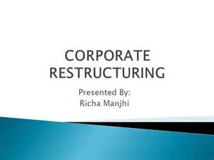 business restructuring plan template corporate restructuring authorstream