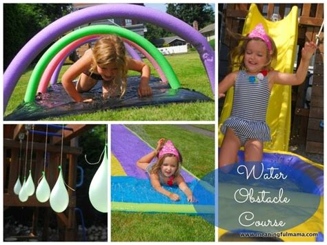 backyard kid activities make a backyard water obstacle course 171 canadian family