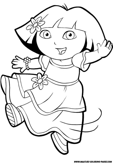dora coloring pages to print out