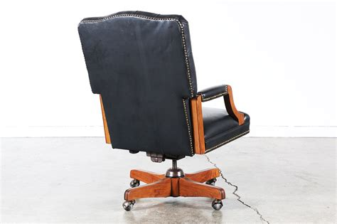 tufted leather office chair vintage vintage style black leather tufted office chair