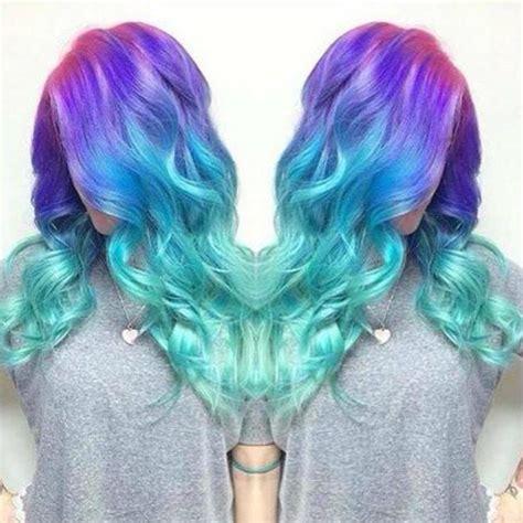 mermaid colored hair 25 best ideas about mermaid hair extensions on