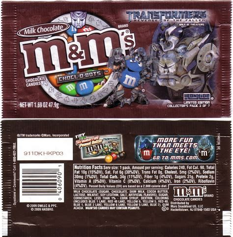 mm transformers candy wrapper archive