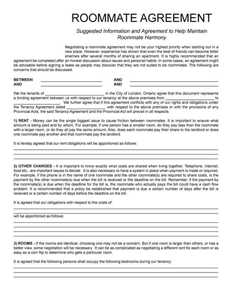 free printable lease agreement for roommates 40 free roommate agreement templates forms word pdf