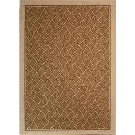 Outdoor Rug Lowes Shop Society Page Rectangular Brown Geometric Indoor Outdoor Woven Area Rug Common 5 Ft X 8 Ft