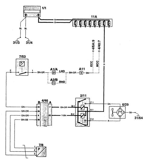volvo 960 1995 wiring diagrams cooling fans