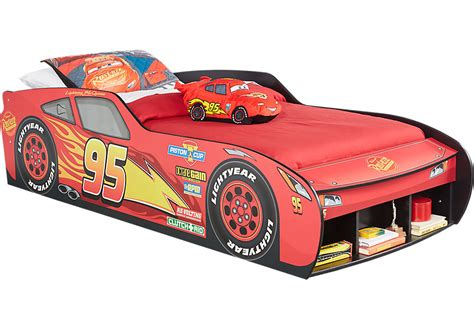 shop for a disney cars lightning mcqueen7 pc bedroom at rooms to go disney cars lightning mcqueen red 3 pc twin car bed twin