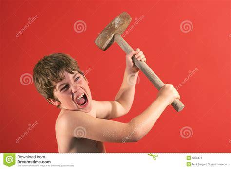 swinging hammers boy swinging sledge hammer stock image image 2350471